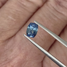 Load and play video in Gallery viewer, 0.74ct Medium Blue Cushion Sapphire
