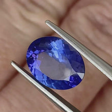 Load and play video in Gallery viewer, 3.24ct Blue Violet Natural Tanzanite