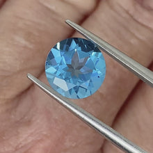 Load and play video in Gallery viewer, 3.84ct Blue Natural Topaz