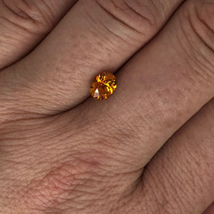 1.06ct Medium Orange Oval Sapphire