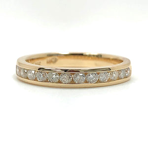 14K Yellow Gold 1/2ctw Natural Diamond Wedding Band