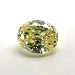 0.36ct Natural Fancy Light Yellow VVS2 Oval Cut Diamond GIA Certified