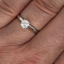Load image into Gallery viewer, 1/2ct 14K White Gold Lab Grown Diamond Solitaire
