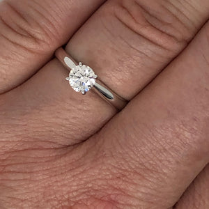 1/2ct 14K White Gold Lab Grown Diamond Solitaire