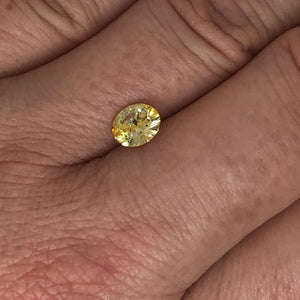 1.22ct Medium Yellow Oval Sapphire