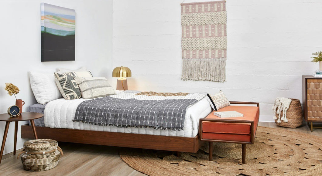 Basi Walnut Queen Bed Frame - New Orleans Habitat for Humanity ReStore Elysian Fields