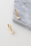 Drop Pearl Sleepers in 18kt Gold Plated