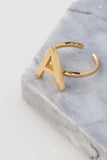 Initial Ring in 18kt Gold Plated