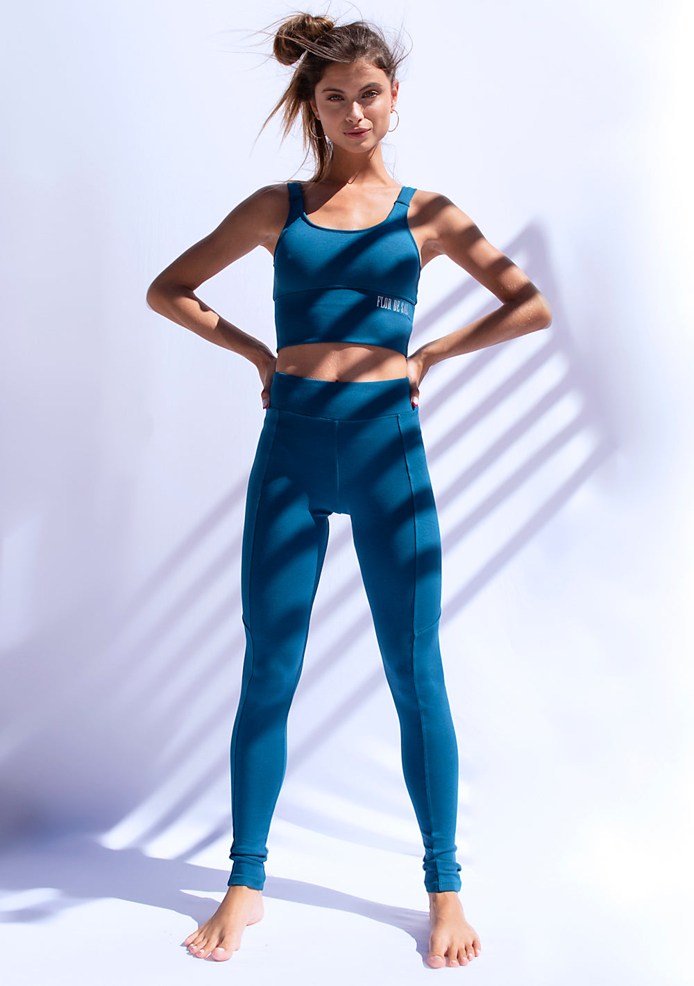 Invigorate Bra Long Line - Petrol Blue