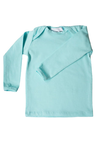 basic long sleeved tee in aqua
