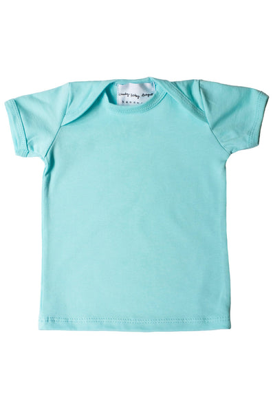 basic short sleeved tee in aqua