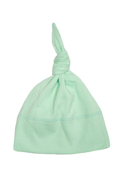 basic knotted beanie in mint