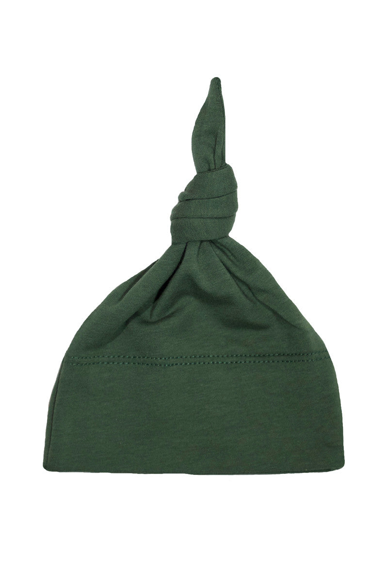basic knotted beanie in olive