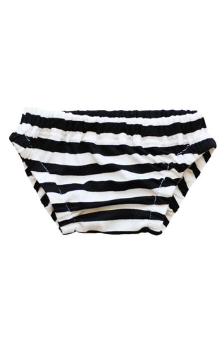 bloomer in black and white stripe