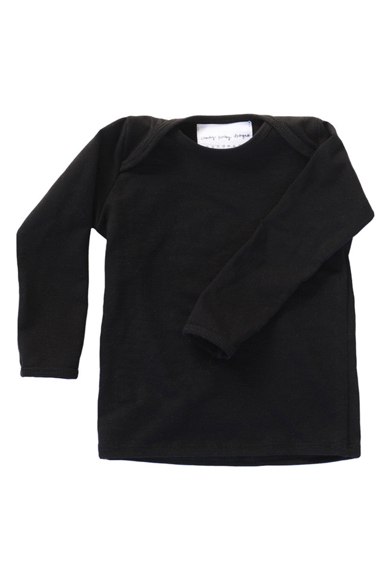 basic long sleeved tee in black
