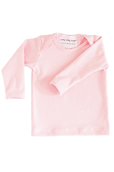 basic long sleeved tee in ballet pink