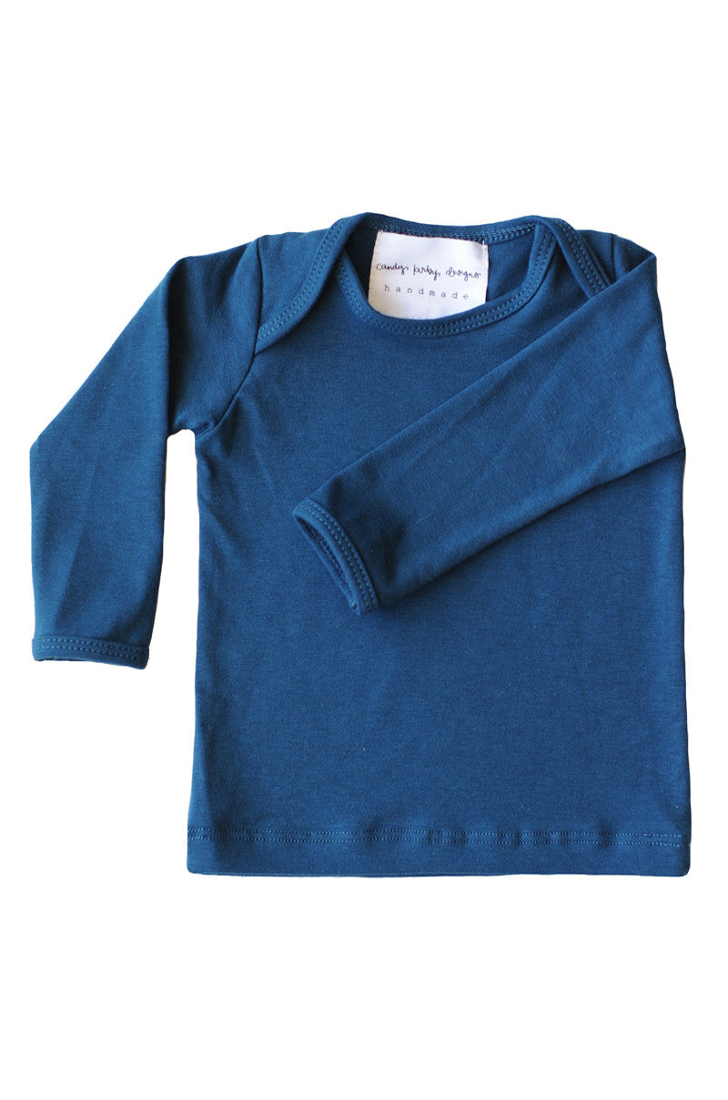 basic long sleeved tee in cadet blue