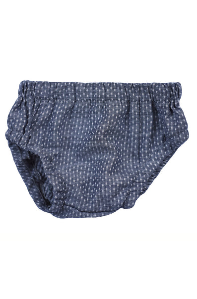 bloomer in woven chambray dot