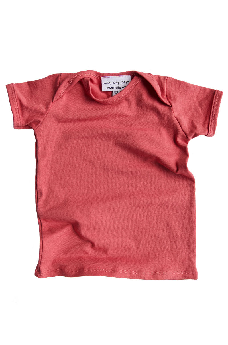 basic short sleeved tee in dusty pink