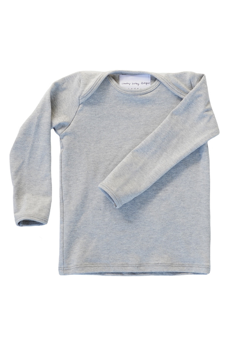 basic long sleeved tee in heather grey