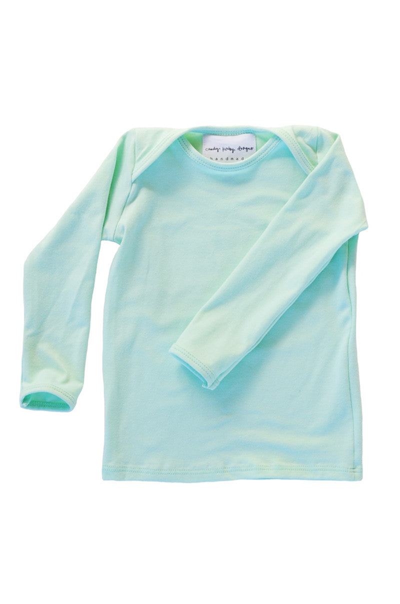 basic long sleeved tee in mint