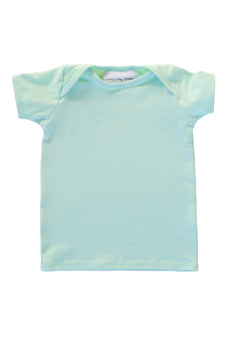 basic short sleeved tee in mint