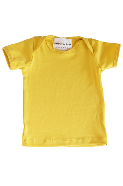 basic short sleeved tee in mustard