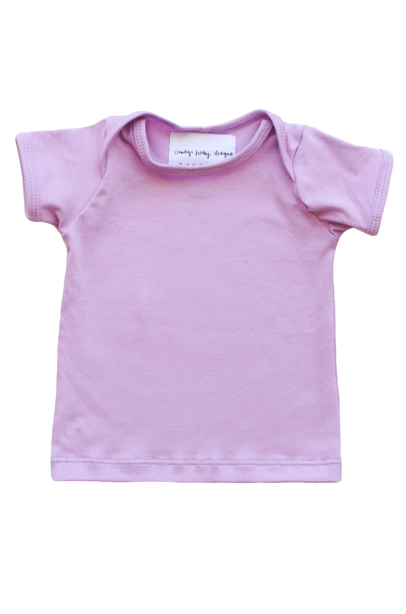 basic short sleeved tee in orchid