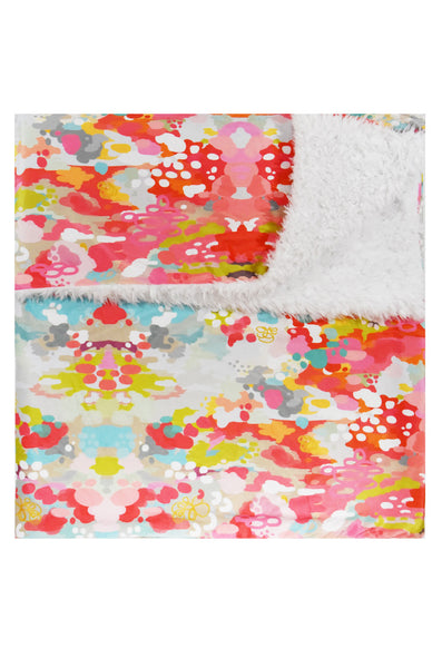 cuddle blanket in watercolor ikat