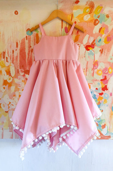 pom pom dress in pink