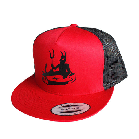 Trucker Hat || Devils coffin || Black/Red