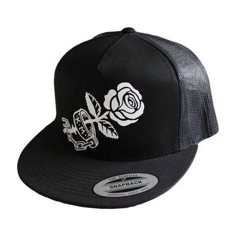 Trucker Hat || Cuff Rose || Black