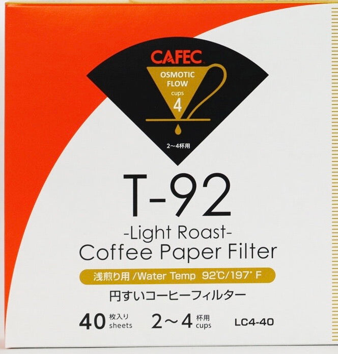 Cafec Light Roast Paper Filter T-92