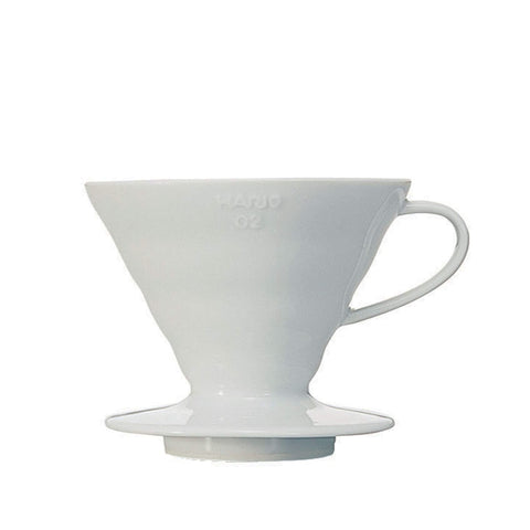 ‏Hario V60 Ceramic Dripper Size 02 White