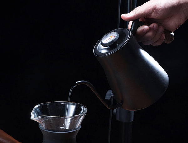 Brewing Kettle Black 850ml with Thermometer