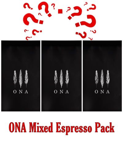 ONA Mixed Espresso Pack - Three 200g bags