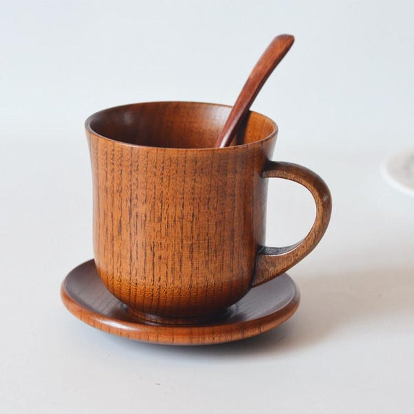 Wooden Coffee mug Set