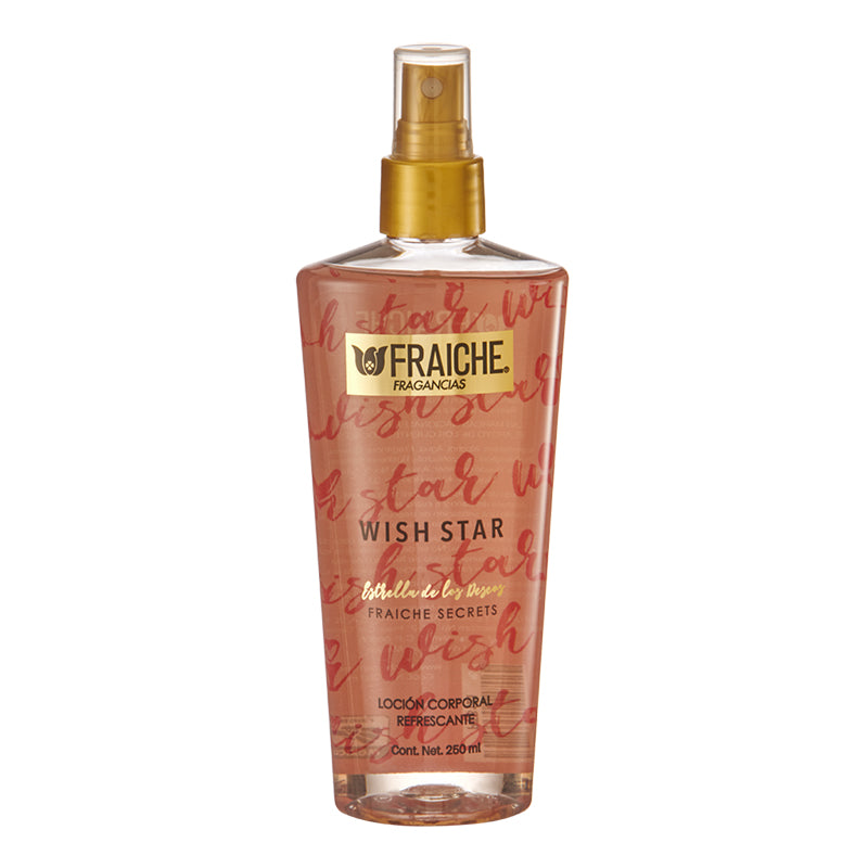 BODY WISH STAR 250ML  Poenía, Fresa, azúcar, crema de almendras