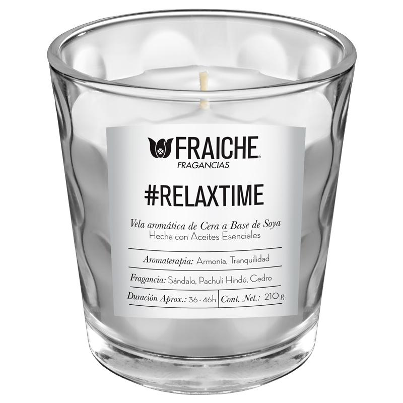 VELA AROMATICA RELAXTIME 210G Sándalo, Pachuli