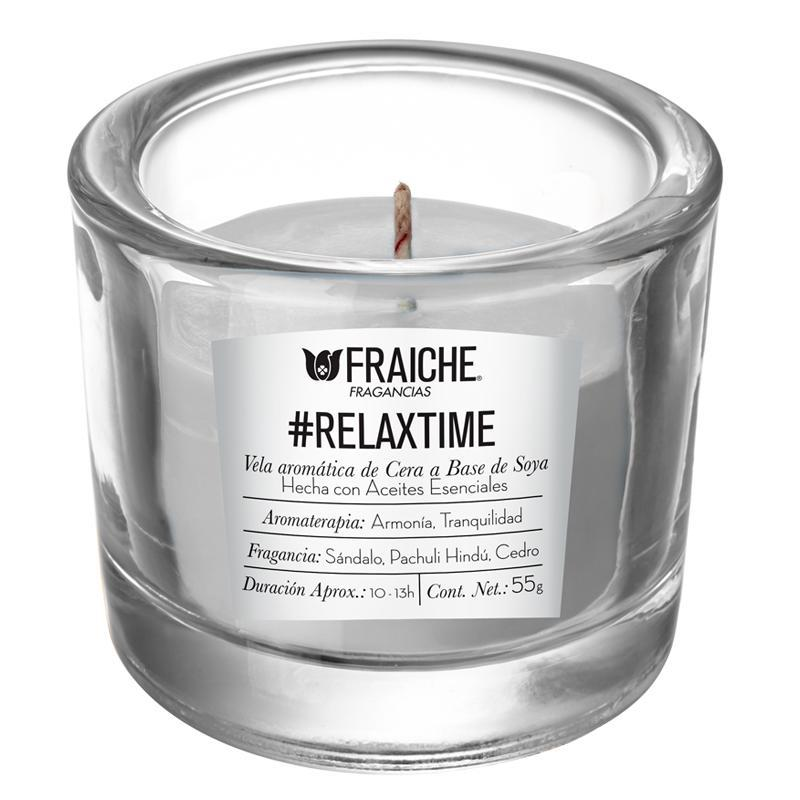 VELA AROMATICA RELAXTIME 55G Sándalo, Pachuli