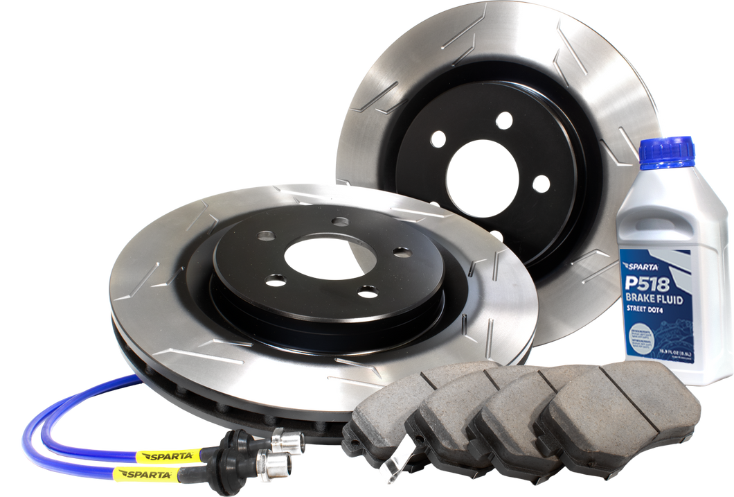 Stage 2 Brake Kit (2BK) - Pad-Rotor-Lines Combo (s-slot)