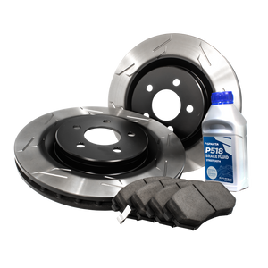 Stage 1 Brake Kit (1BK) - Pad-Rotor Combo (wing-slot)