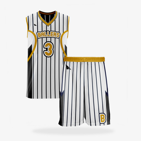 Men's Pro Basketball Reversible Uniform Set