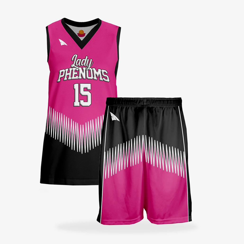 Women's Pro Basketball Reversible Uniform Set