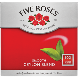 FIVE ROSES TAGLESS TEA BAGS 102'S