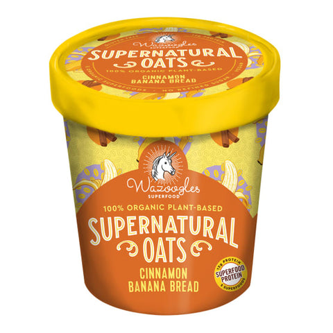 WAZOOGLES CINNAMON BANANA BREAD SUPERNATURAL OATS POT