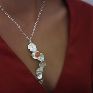 Load image into Gallery viewer, Sea grape carnelian necklace