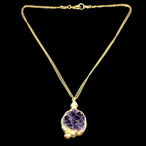 Amethyst Gold Barnacle Necklace