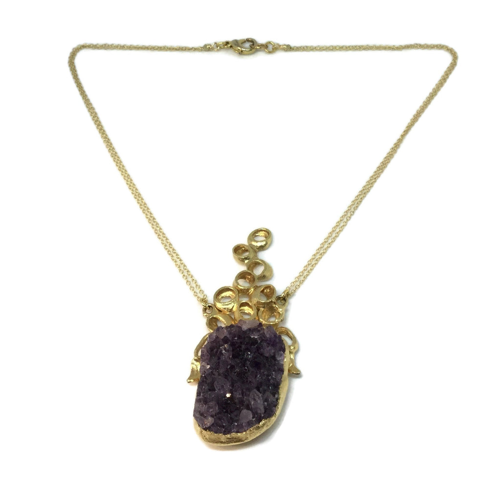 Load image into Gallery viewer, Amethyst Bubble Necklace