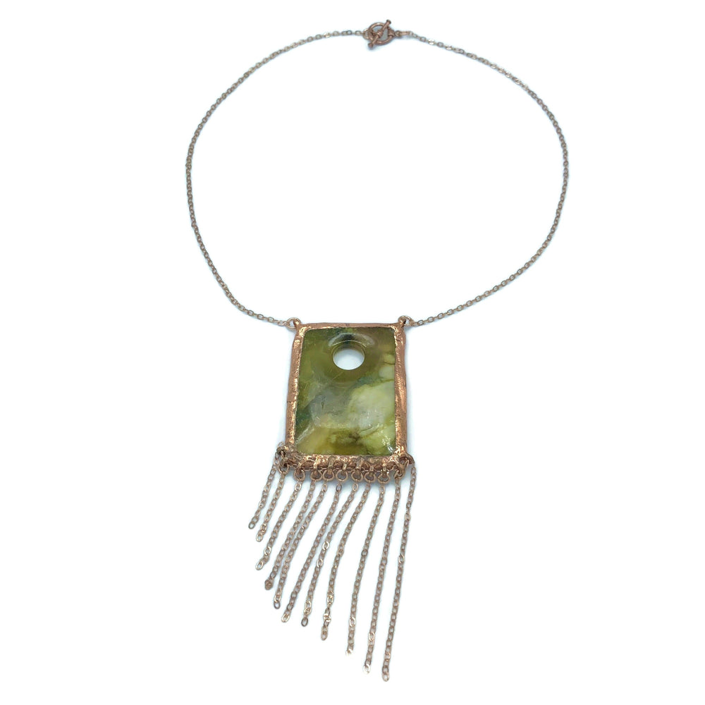 Moss Waterfall Necklace